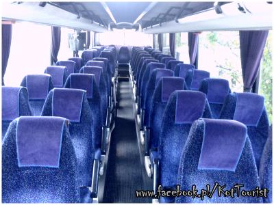 Wnętrze autokaru do wynajmu sosnowiec i śląsk